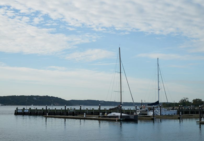 Wide view of Peconic Bay