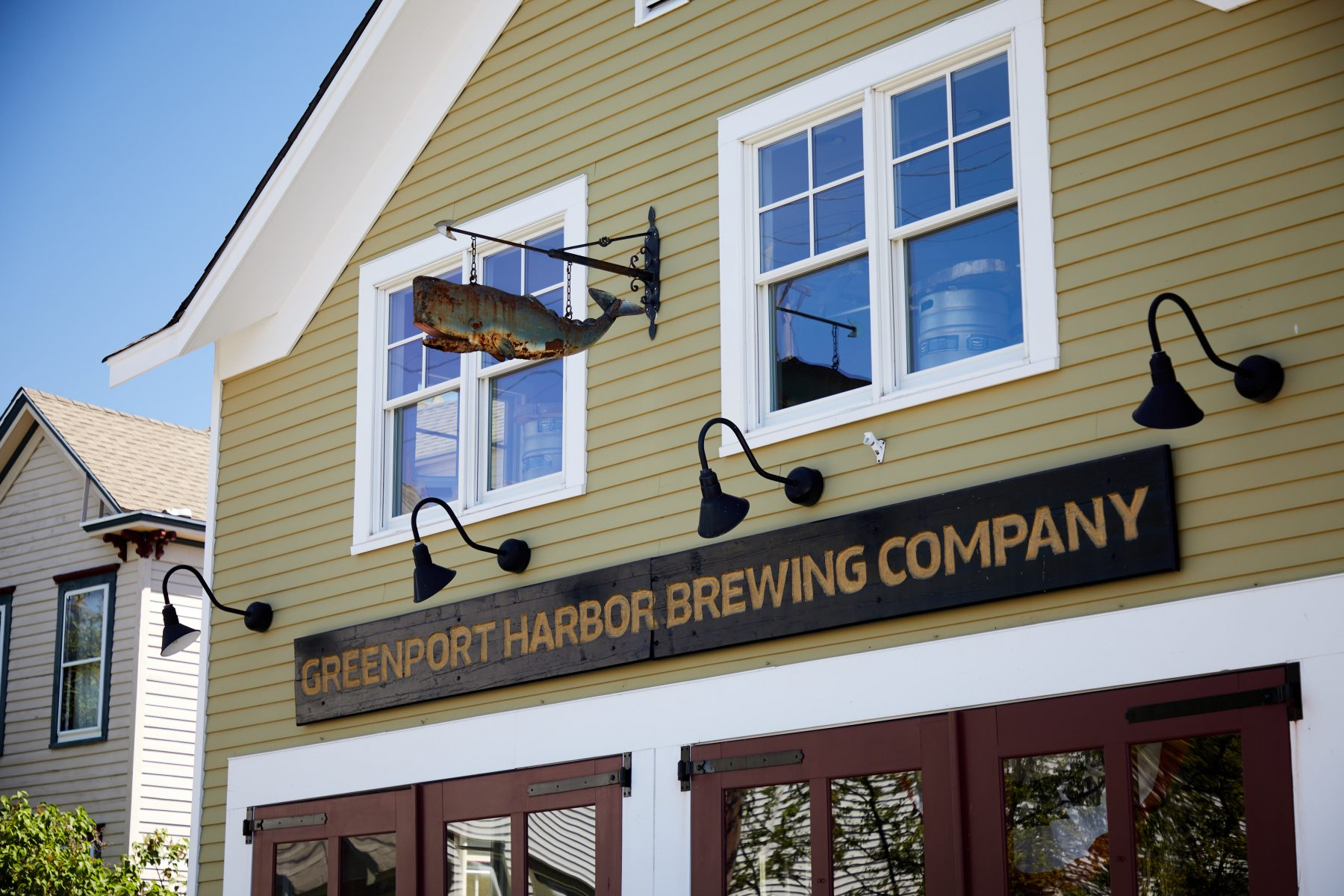 Close up of Greenpoint Harbor Brewing Company building
