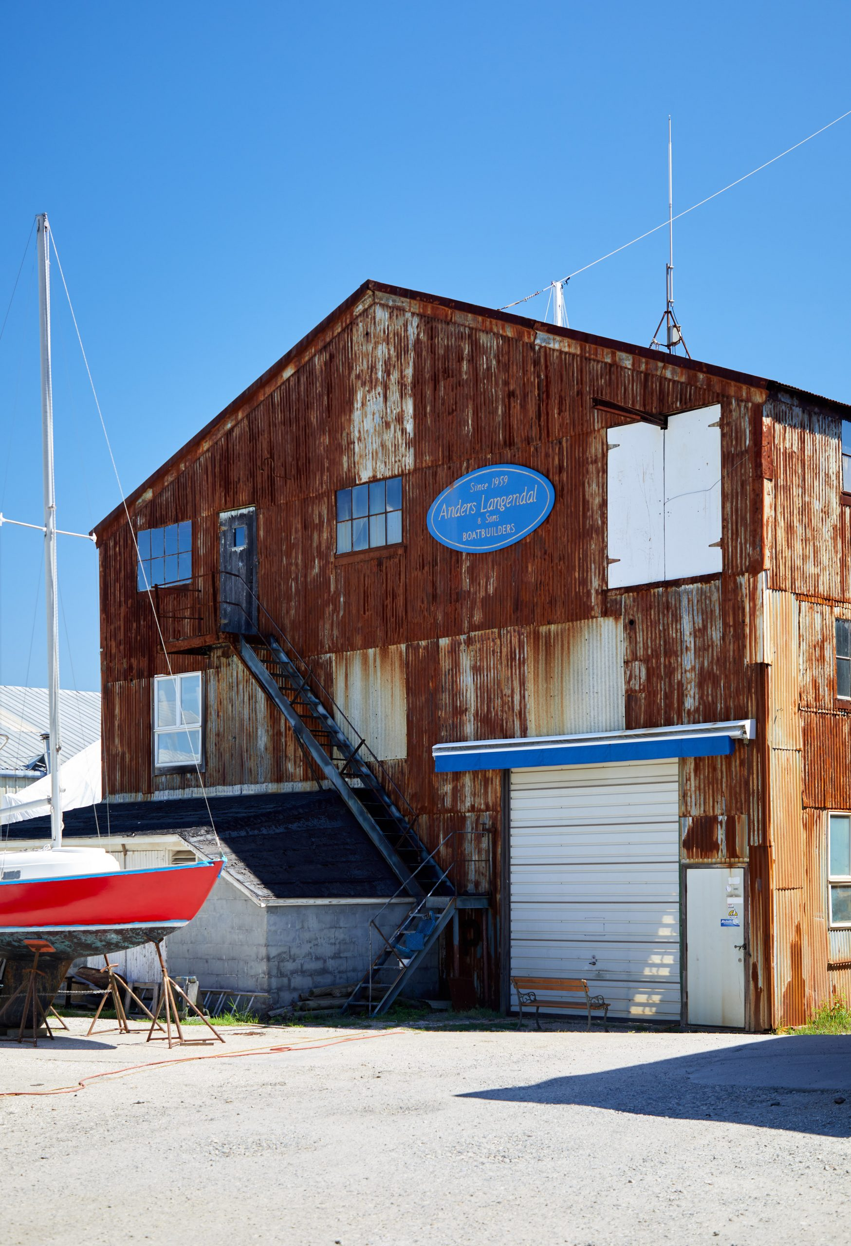 Greenpoint rusted shipyard building