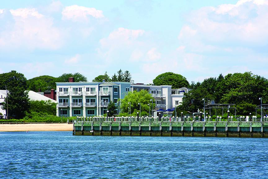Harborfront Inn view from water