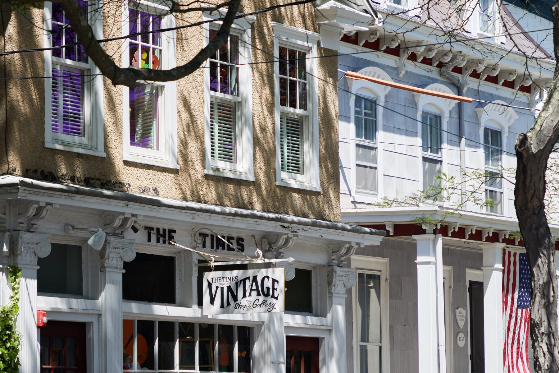 Exterior view of The Times Vintage Shop & Gallery